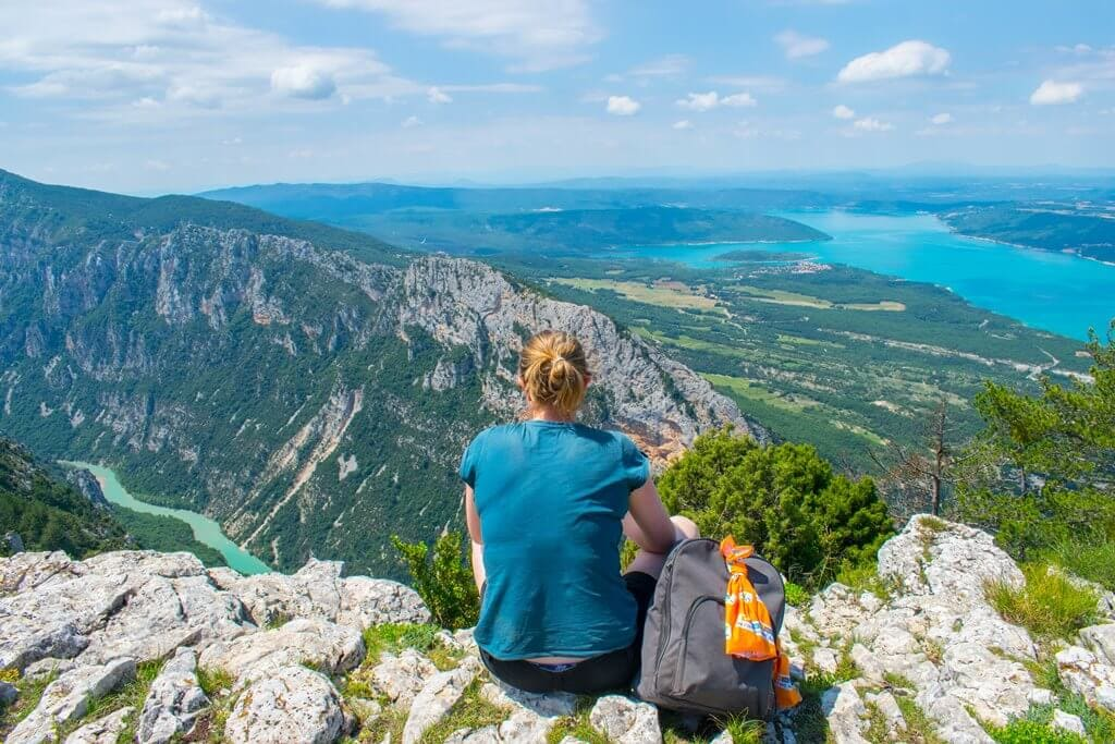 Looking out the best Viewing point in Verdon Gorge